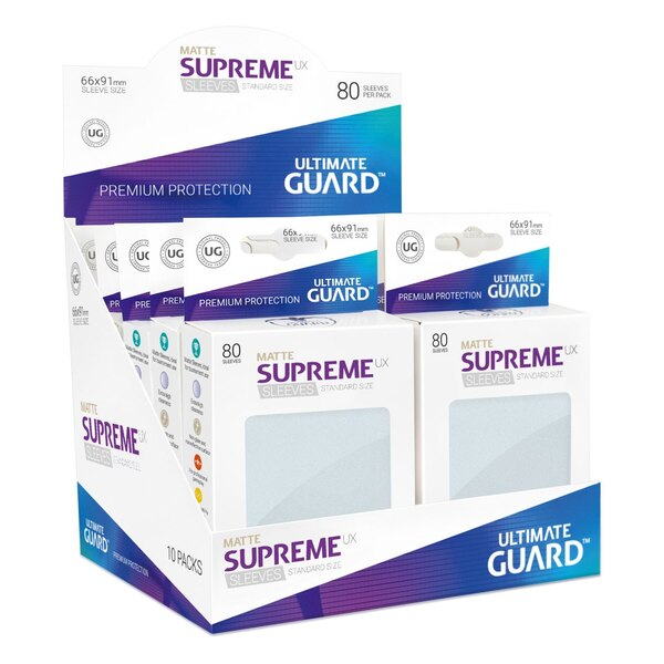 Ultimate Guard 80 pochettes Supreme UX Sleeves taille standard Frosted Mat