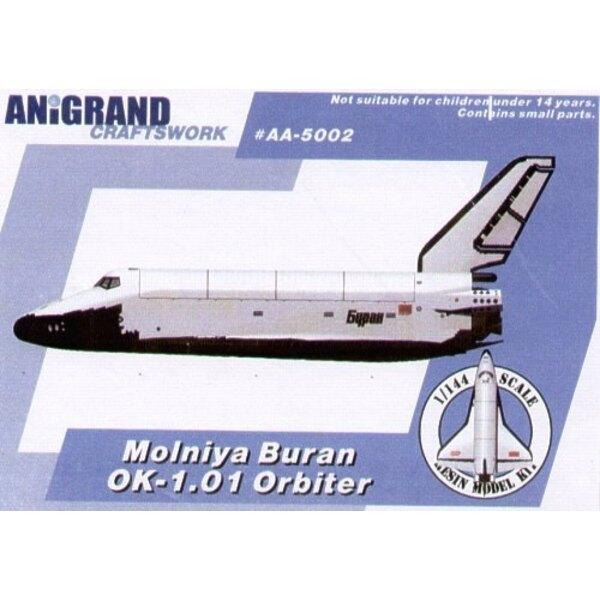 Molniya Buran OK-1.01 navette spatiale. En 1974 après l'échec de la fusée Lunaire n-1 les militaires soviétiques ont préféré une