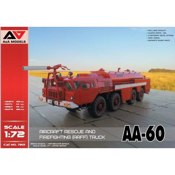 AA-60 lutte contre l'incendie truckcontaining: 192 parties (sur 11 cadres en plastique) - masques adhésifs - portes ouvertes / f