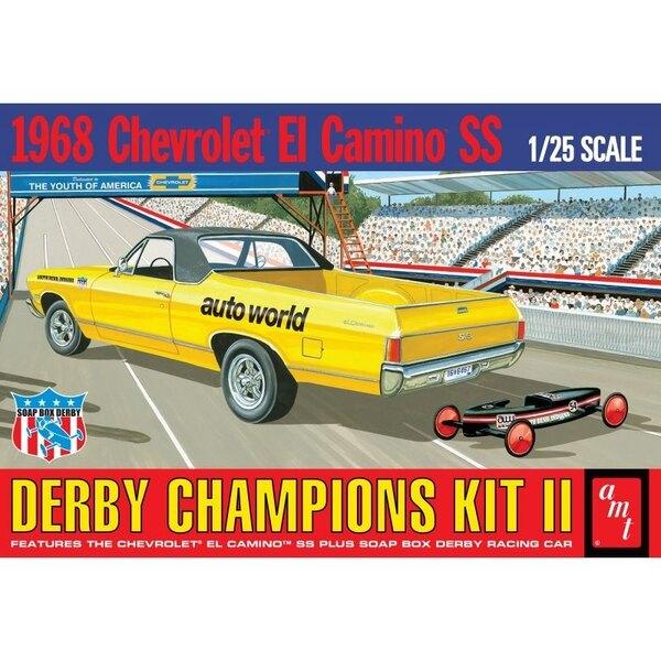 1968 El Camino SS (avec Bonus Box Derby voiture Savon de course) Derby Chapions Kit II