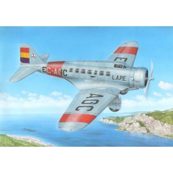 US Delta transport de passagers et avion Espagne Plus Autocollants pour c / n 7 enregistré EC-AGC, LAPE (service République espa