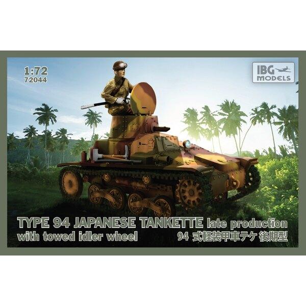 TYPE 94 Tankette japonaise - production tardive avec roue libre remorquée -