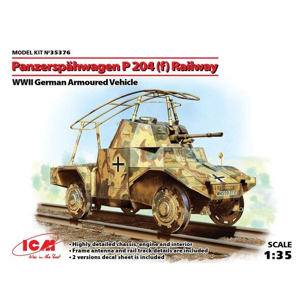Panzerspauml - hwagen P 204 (f) des chemins de fer, l'allemand Seconde Guerre mondiale blindée Vehiclebullet - châssis très déta