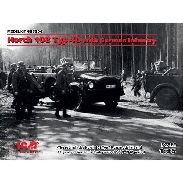 Horch 108 Type 40 avec infanterie allemande