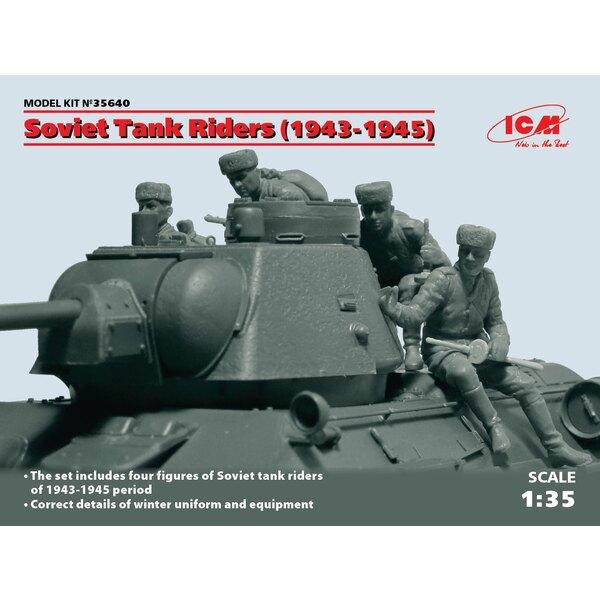 Russie / Tank Riders soviétiques (1943-1945) (4 chiffres) (100% de nouveaux moules)
