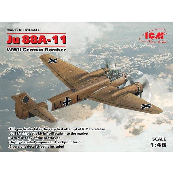 Junkers Ju-88A-11 Seconde Guerre mondiale bombardier allemand balle - Ce kit particulier est la première tentative de l'ICM pour