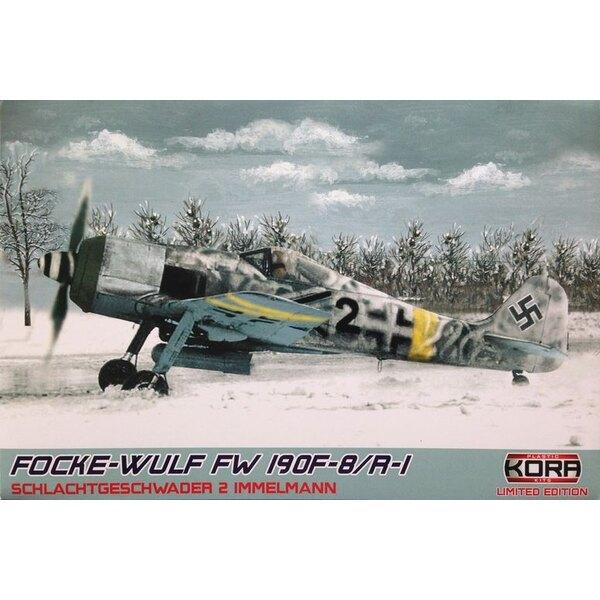 Focke-Wulf Fw-190F-8 / R-1 (5 x schémas de camouflage) (ex-Eduard avec des pièces en résine et le masque de peinture)