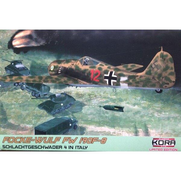 Focke-Wulf Fw-190F-8 en Italie (5 x schémas de camouflage) (ex-Eduard avec des pièces en résine et le masque de peinture)