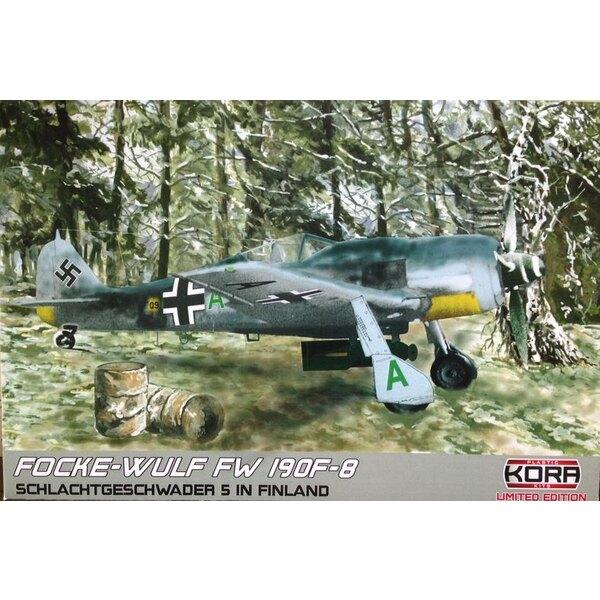 Focke-Wulf Fw-190F-8 en Finlande (5 x schémas de camouflage) (ex-Eduard avec des pièces en résine et le masque de peinture