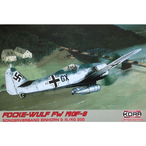 Focke-Wulf Fw-190F-8 III.KG 200 (3 x schémas de camouflage) (ex-Eduard avec des pièces en résine et le masque de peinture
