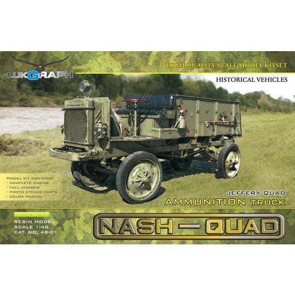 Nash-Quad camion de munitions.Le Quad Jeffery, également connu sous le nom de Nash Quad ou Quad est un camion à quatre roues mo