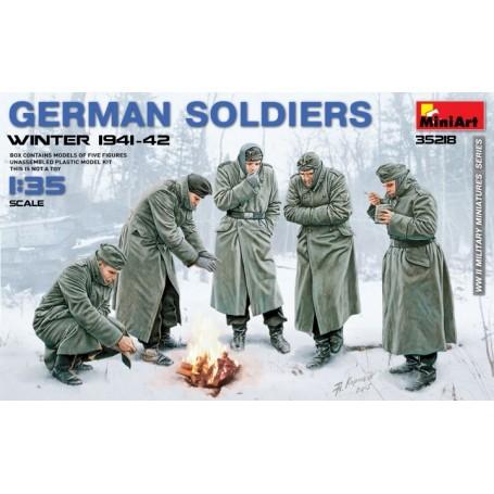 Les soldats allemands (hiver 1941-1942)