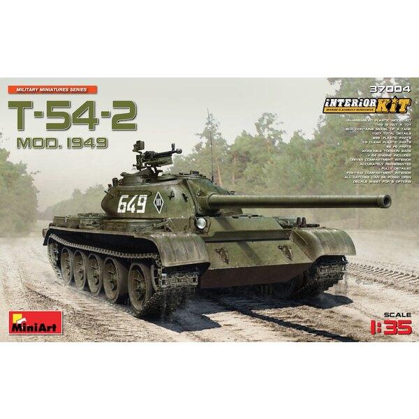 T-54-2 soviétique réservoir Mod soviétique.1949 avec interior.HIGLY DETAILLEE MODELTOTAL DETAILS 1007899 PLASTIC PARTS92 PHOETC