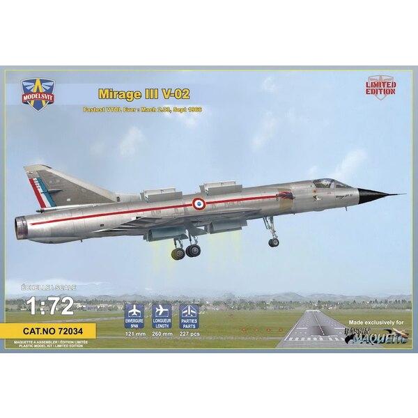 Dassault Mirage III V-02 - escaliers escamotables photo-gravé plaque - édition limitée à 500 compartiments moteur pcs.detailed -