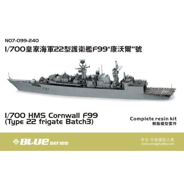 HMS Cornwall F99 (type 22 frégate lot 3) (avec la coque de la ligne de flottaison)
