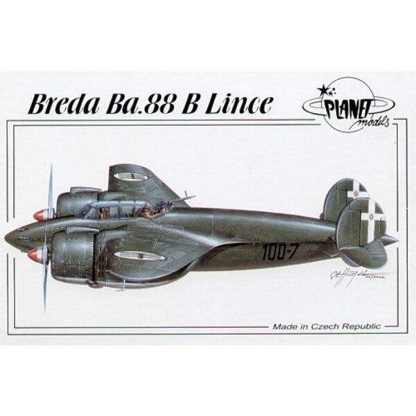 Breda Ba.88B Lince avec des autocollants pour 2 avions Italian Air Force