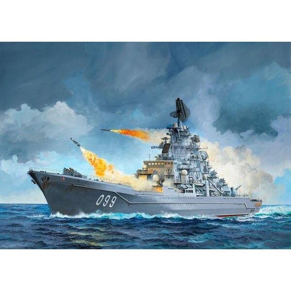 Petr Velikiy (. Ex Zvezda Zvezda est un peu moins cher) Un kit de construction de modèle de l'un des plus grands navires militai