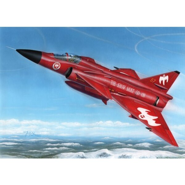Saab AJ-37 Viggen Show Must Go On AJ-il SAAB 37 Viggen était un avion en avance sur son temps.Ses concepteurs ont utilisé une c