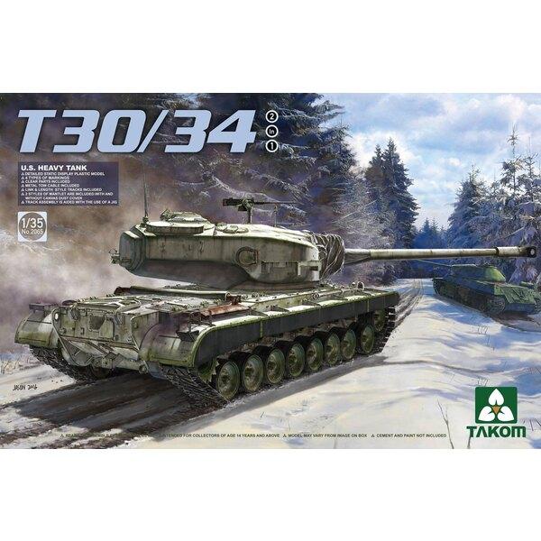 États-Unis Char lourd T30 / 34 2 en 1