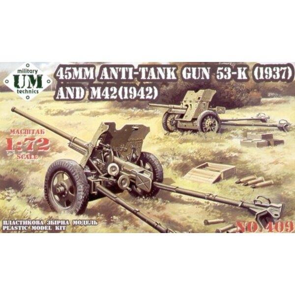 45MM Anti-Tank Gun 53-K (1937) et M42 (1942)