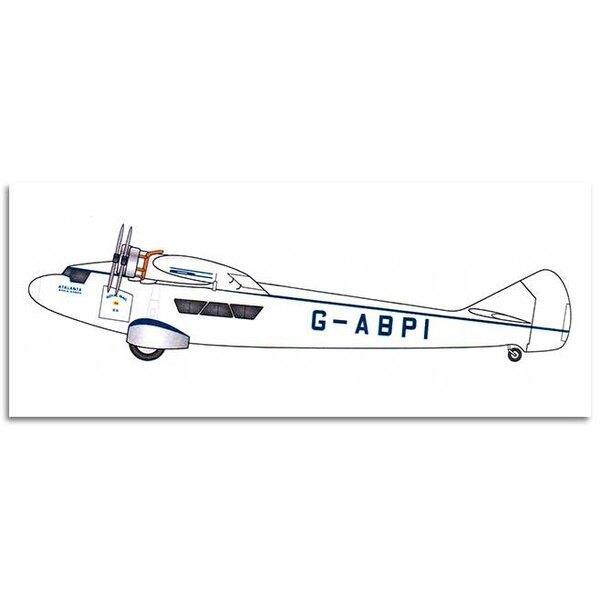 Armstrong-Whitworth AW.15 Atalanta - Imperial Airways.Armstrong Whitworth Atalanta, un kit de résine avec des pièces métallique