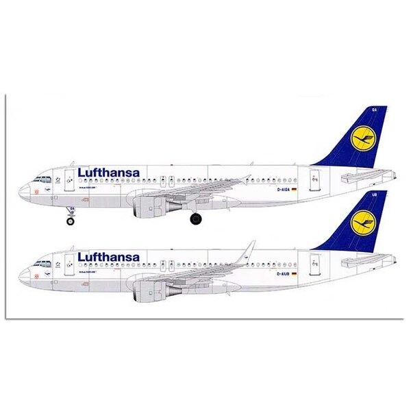 Airbus A320 avec winglets et décalcomanies CFM56 pour Lufthansa.Airbus A320-214 choix de deux versions, le fuselage formé vac a