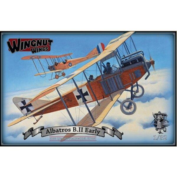 Albatros B.II version anticipée Deux feuilles de décalque Cartograf de haute qualité, y compris photo panneaux réalistes de fuse