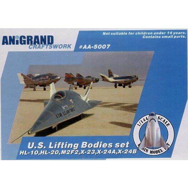 Lifting bodies set. En 1957 la NASA avait enquêté sur les problèmes associés à la rentrée de l'espace d'ogive de missile. Les in