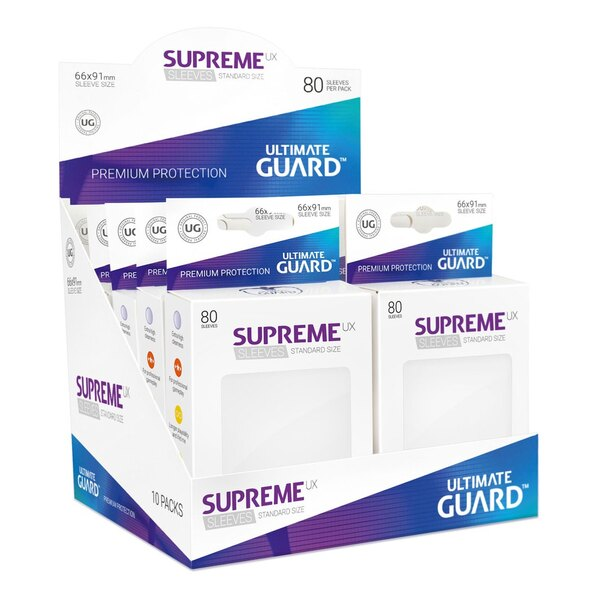 Ultimate Guard 80 pochettes Supreme UX Sleeves taille standard Blanc