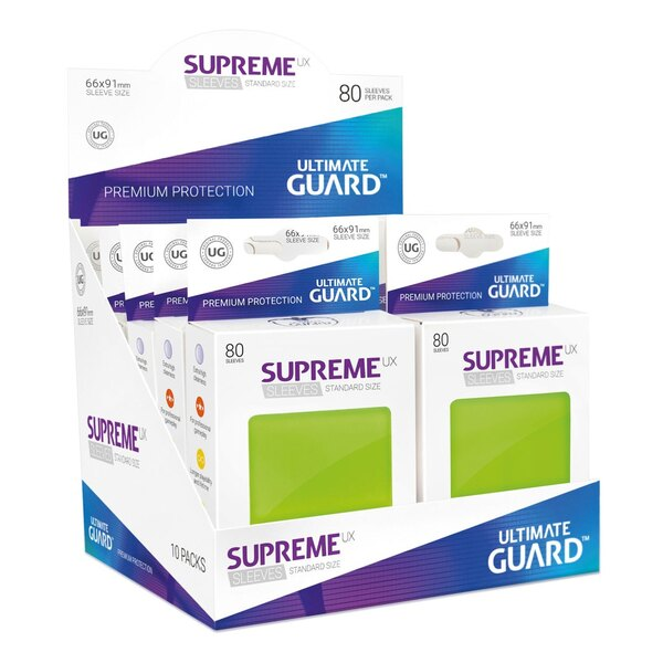 Ultimate Guard 80 pochettes Supreme UX Sleeves taille standard Vert Clair
