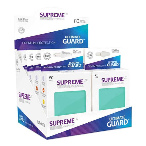 Ultimate Guard 80 pochettes Supreme UX Sleeves taille standard Turquoise