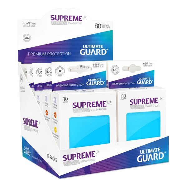 Ultimate Guard 80 pochettes Supreme UX Sleeves taille standard Bleu Clair
