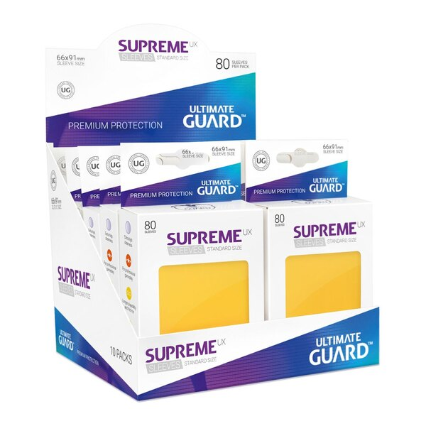 Ultimate Guard 80 pochettes Supreme UX Sleeves taille standard Jaune