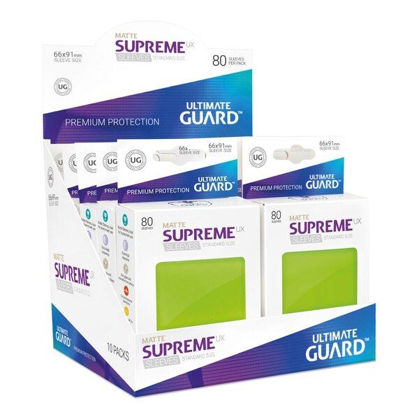Ultimate Guard 80 pochettes Supreme UX Sleeves taille standard Vert Clair Mat