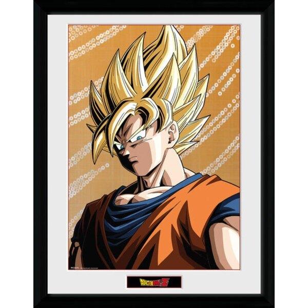 Dragonball Z poster encadré Goku 45 x 34 cm