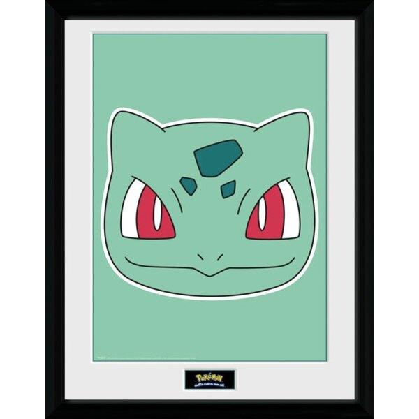 Pokemon poster encadré Bulbizarre 45 x 34 cm
