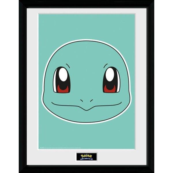 Pokemon poster encadré Carapuce 45 x 34 cm
