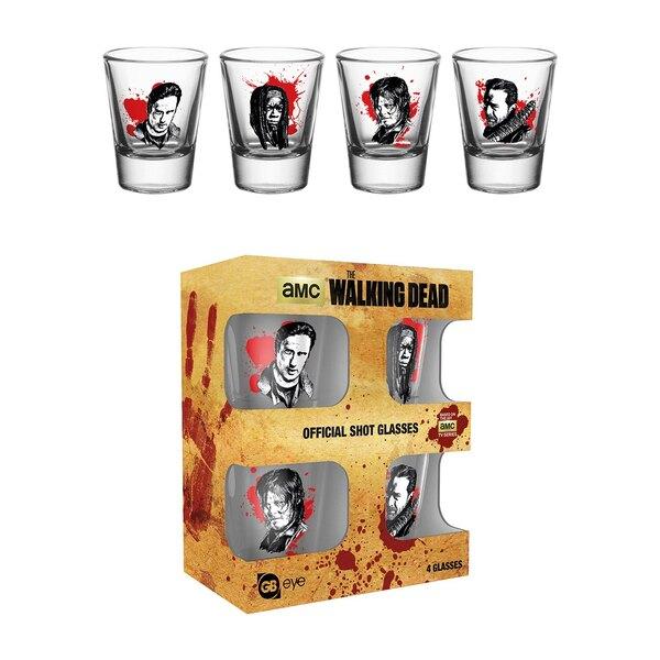Walking Dead Set 4 verres à liqueur Characters New