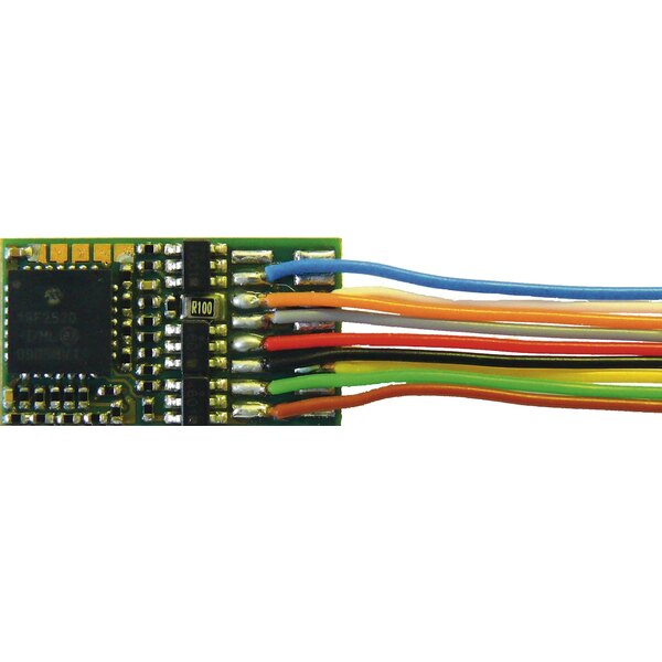 Decoder with feedback capability, with wires and 8-pole plug (NEM 652)