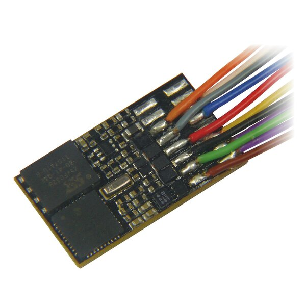 Sound decoder with feedback capability, with wires and 8-pole plug (NEM 652)