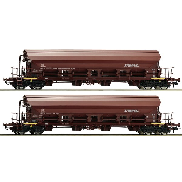 2 piece set swing roof wagons, DR