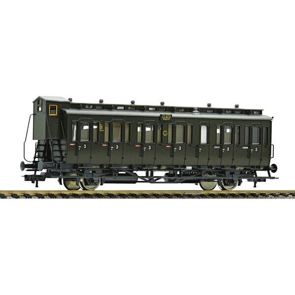 2-axle 3rd class compartment car with brakeman's cab type C pr21, DRG.