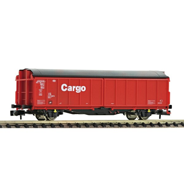 Sliding wall wagon of the DB Cargo hired out to the SBB
