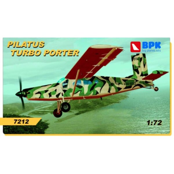 Pilatus Turbo Porter.Kit d'assemblage de modèle en plastique à l'échelle.Le kit contient des pièces en plastique moulés par in