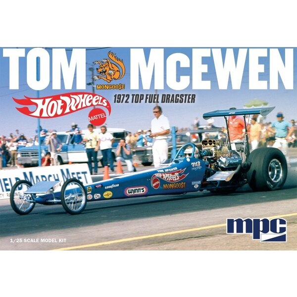 Tom 'Mongoose' McEwen 1972 Rear Engine Dragster - Hot WheelsTom McEwen's 1972 rear engine rail dragster was as fast as it was be
