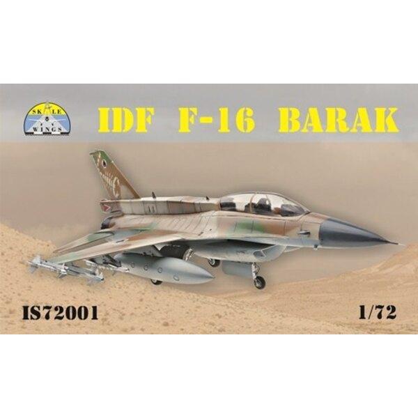 General-Dynamics F-16 Barak IDFLe kit comprend: 136 pièces (7 cadres en plastique), plaque photo-gravée, décalcomanies pour 4 ma