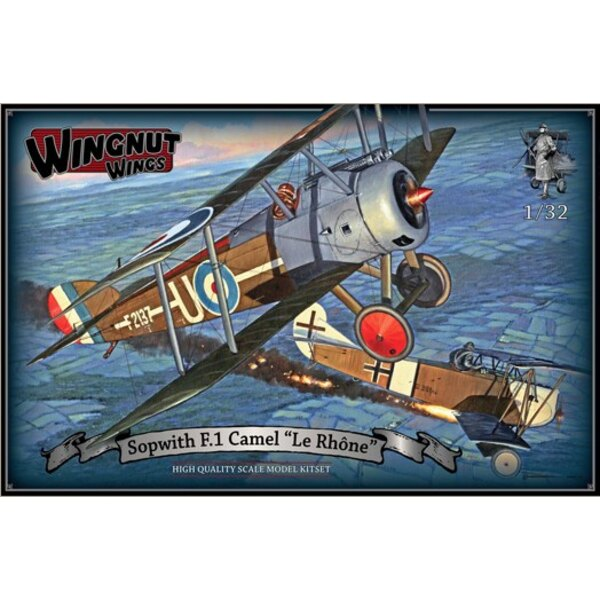 Sopwith F.1 Camel 'Le Rhone' High quality Cartograf decals for 5 aircraft -165 high quality injection moulded plastic parts - Op
