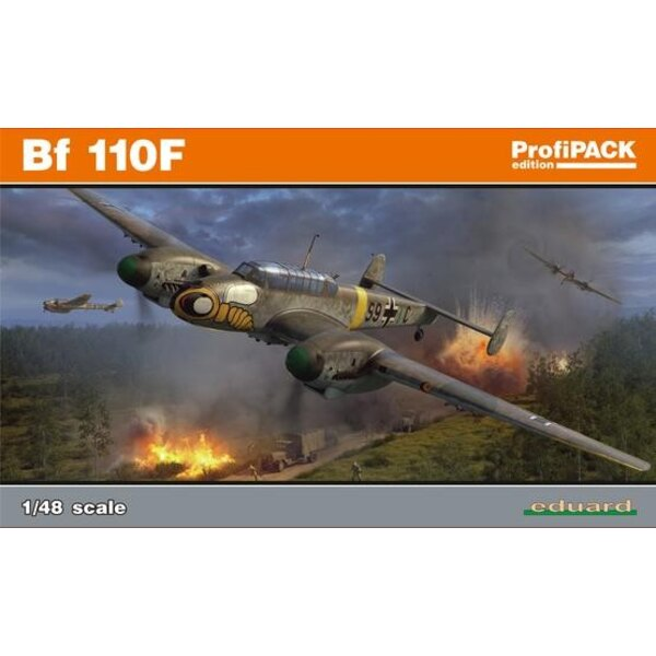 Messerschmitt Bf-110F ProfiPACK edition kit of Bf 110F in 1/48 scale. - plastic parts: Eduard - No. of decal options: 5 - decals
