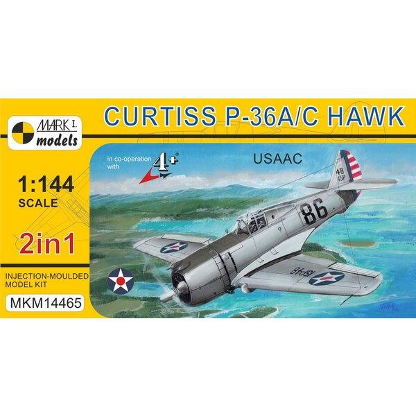Curtiss P-36 Hawk 'USAAC' (2in1 2 kits dans 1 boîte) (USAAC) Le Curtiss P-36 Hawk, modèle 75 de l'entreprise, était un avion de