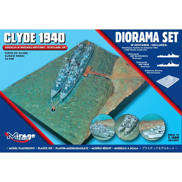Firth Of Clyde diorama 1940 (avec ORP Blyskawica et ORP From)